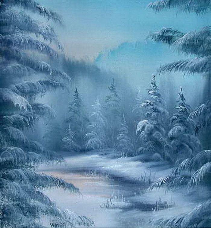 Картинки зимнего леса сказочные