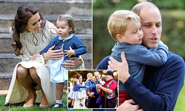 Princess Charlotte and Prince George are guests of honour at party