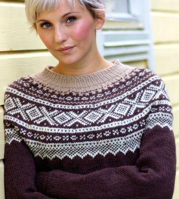 Nydelige farger på denne Marius-genseren //BLÅ | Strikket ...