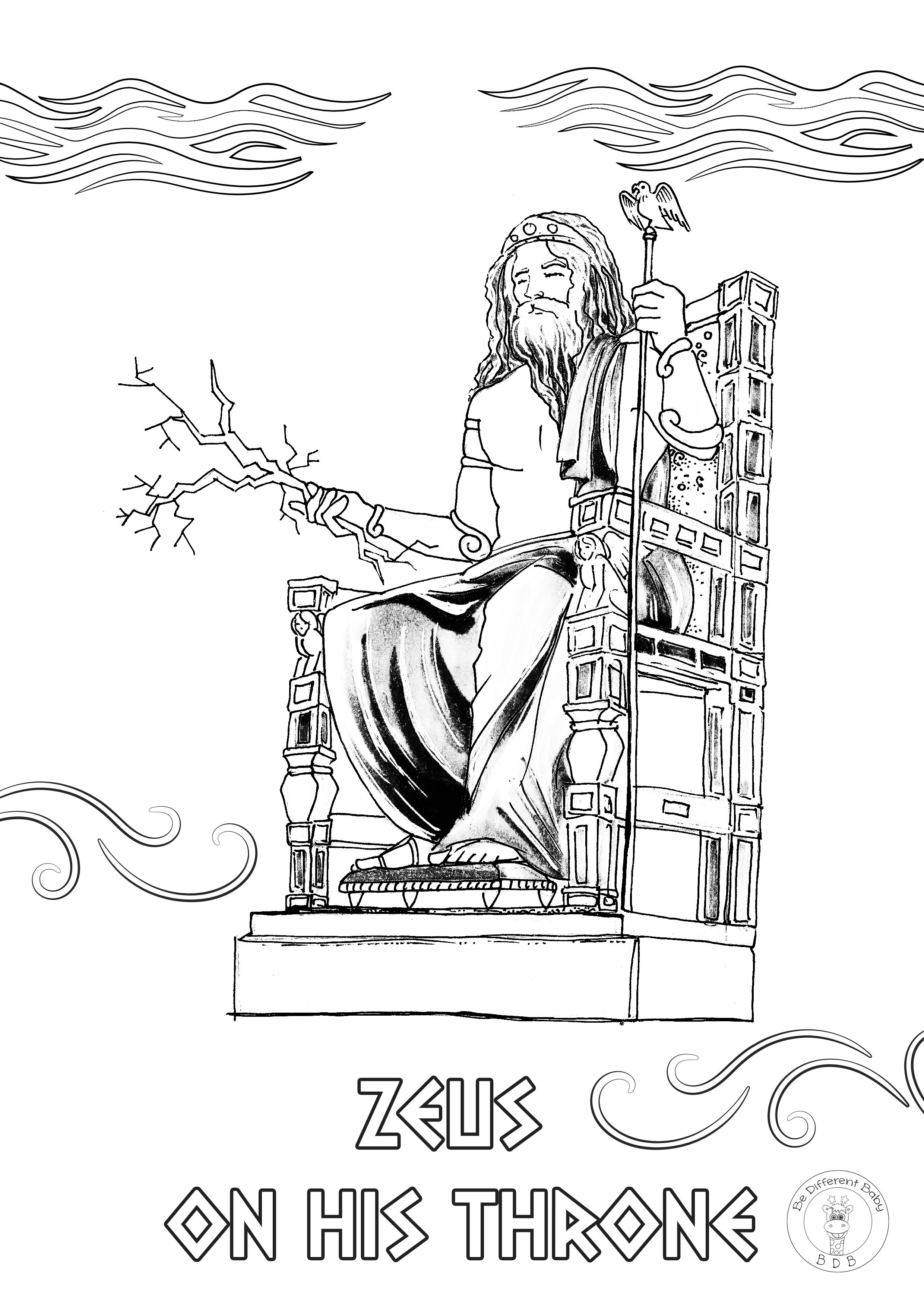Greek Mythology Coloring Pages If You And Your Children Love Greek Mythology This Is A Must Have 12 Unique Hand Drawn Mythological Scenes In 2021 Greek Gods And Goddesses Coloring Books Gods