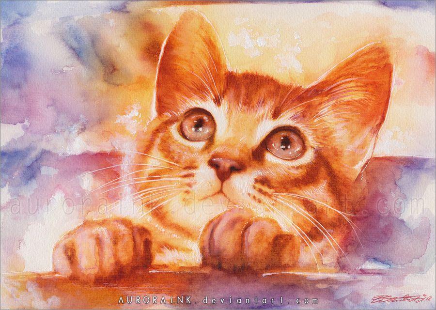 What S This Par Aurora Wienhold Illustration De Chat Peinture