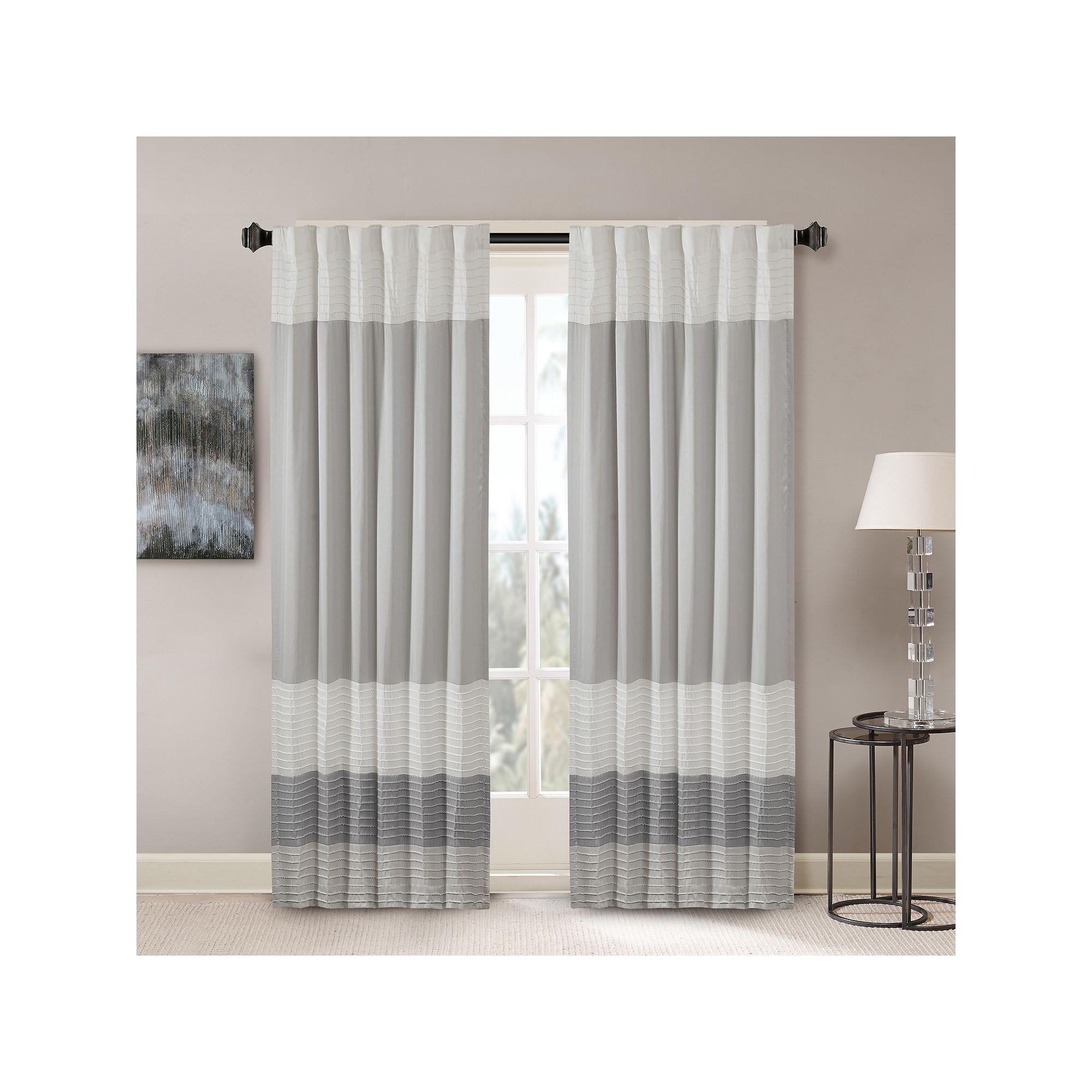 Madison Park 1 Panel Window Curtain 50 X 84 Curtains Panel Curtains Striped Room