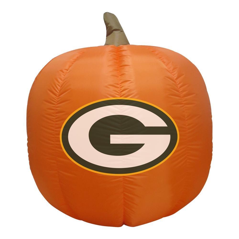 Nfl 4 Ft Green Bay Packers Inflatable Pumpkin 497045 Inflatable Pumpkin Halloween Decorations To Make Fun Halloween Decor