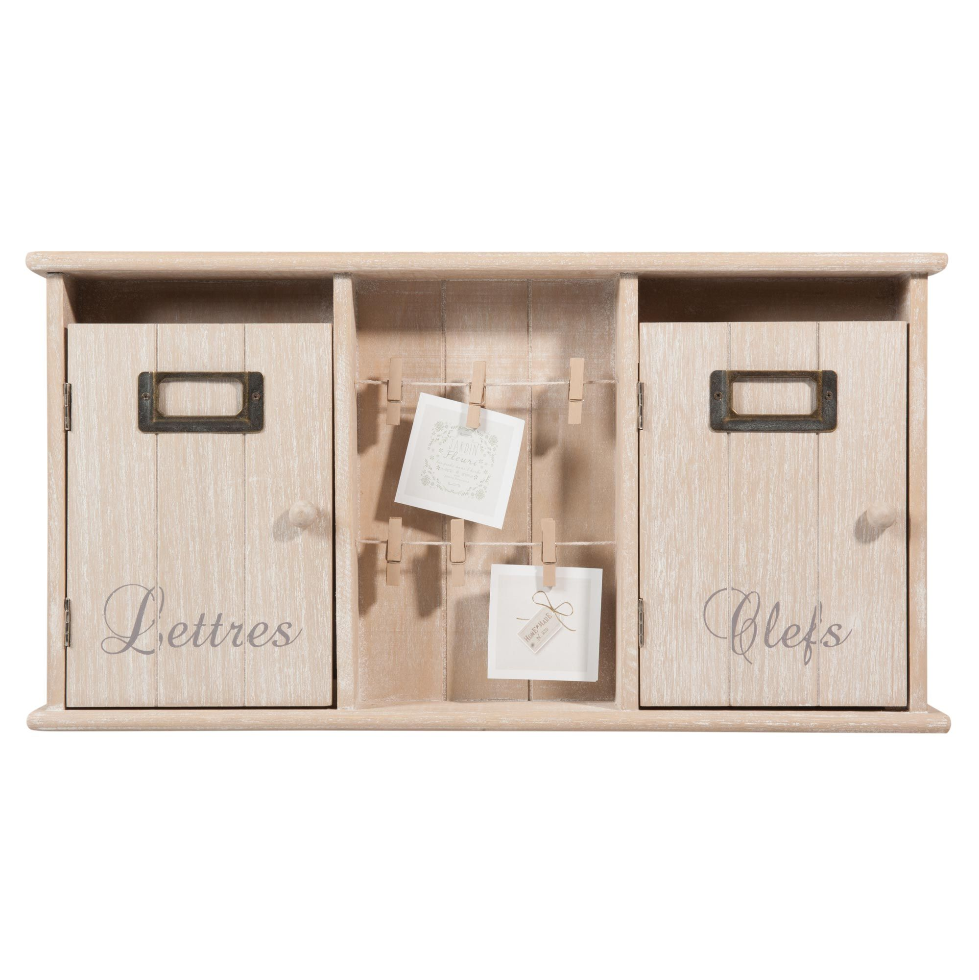 bo te cl s courrier en bois brocante maisons du. Black Bedroom Furniture Sets. Home Design Ideas
