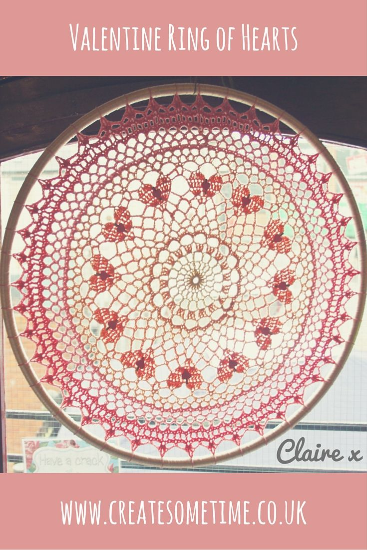 GIANT CROCHET HULA HOOP Made using Valentine ring of hearts doily ...