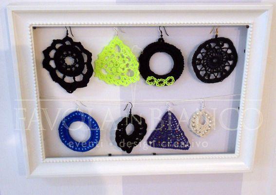 Handmade Bijoux and Accessories - Orecchini realizzati a mano all'uncinetto