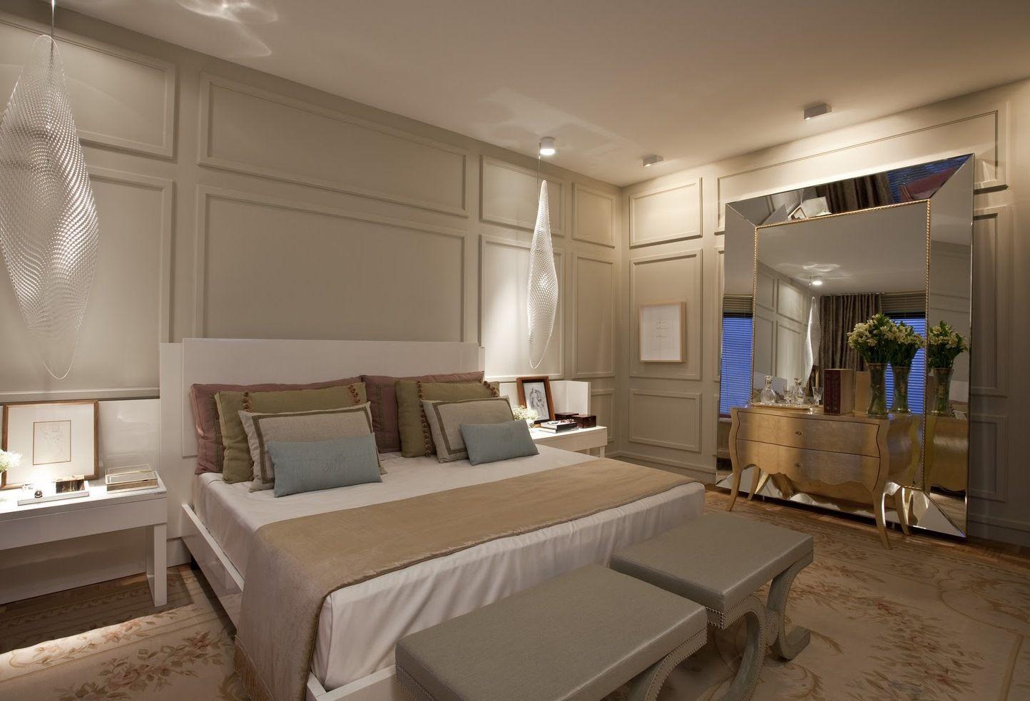 Dormitório de casal com iluminação pendente Dormitório  ~ Quarto Casal Gesso