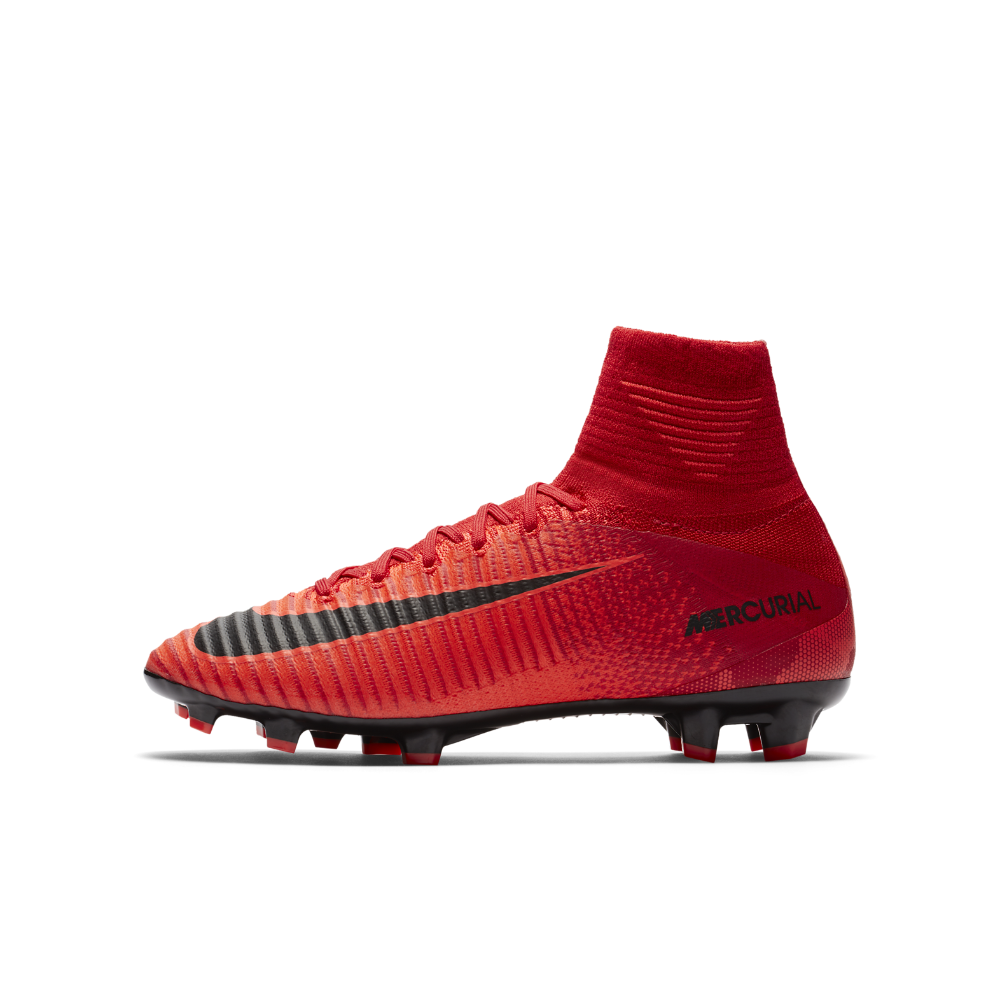 big sale 66b24 a1d66 Nike Jr. Mercurial Superfly V Dynamic Fit Big Kids  Firm-Ground Soccer  Cleats Size 5.5Y (Red)