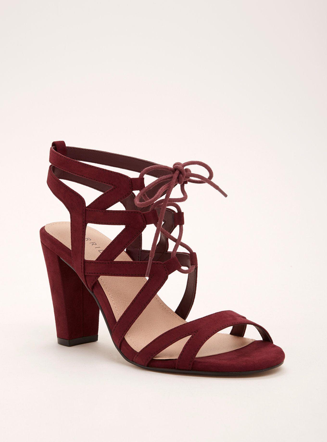 94f3c782f1a4 Lace Up Block Heels (Wide Width)