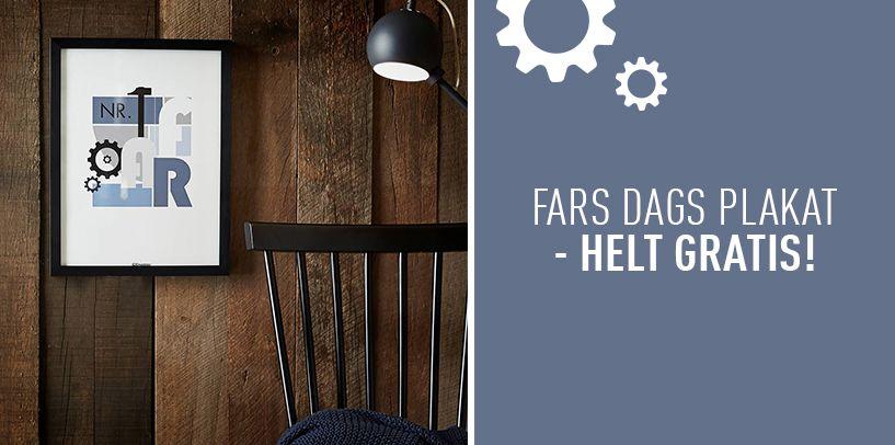 Fars dags gave – helt gratis fra idemøbler | diy ideer | Giving, Printables og Fathers day
