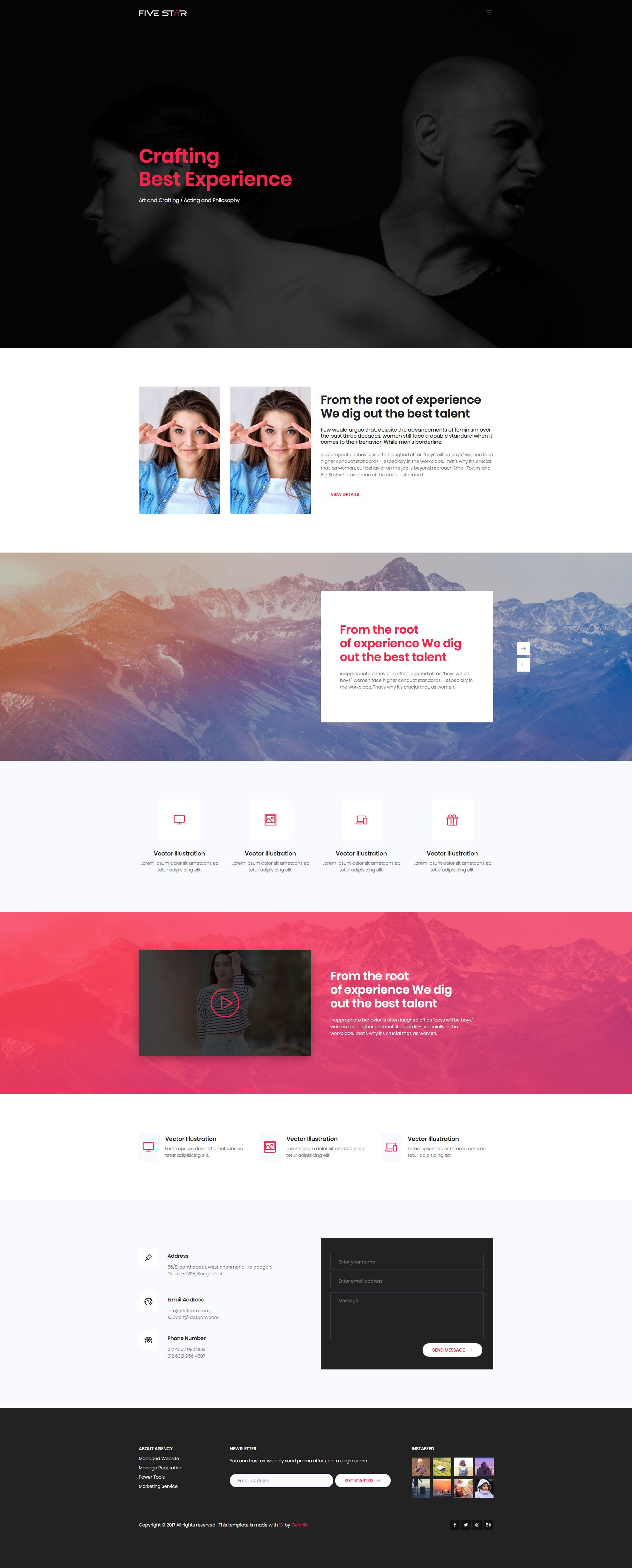 Five Star Free Responsive Html5 Bootstrap Business Template