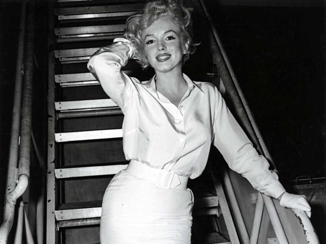 "Marilyn Monroe arriving in Los Angeles for the filming of ""Some Like It Hot"", 1958."