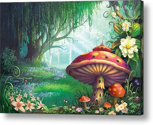 enchanted mushroom wallpaper - photo #13