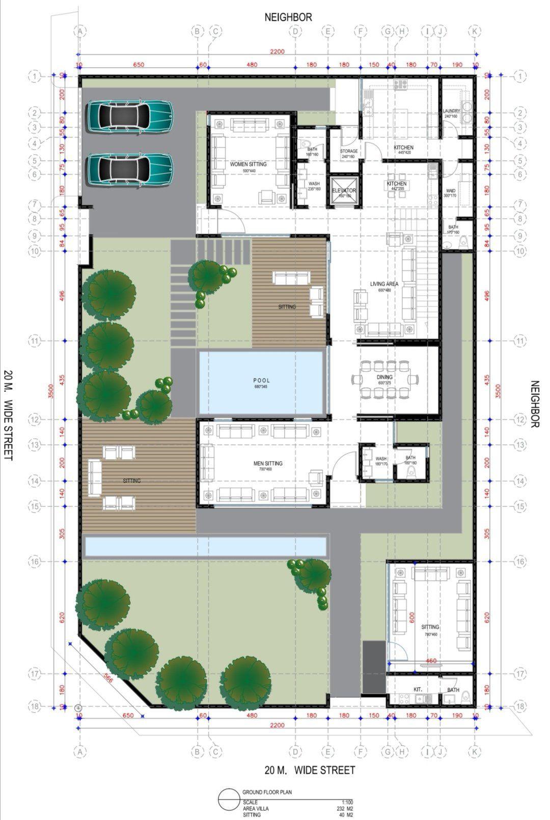 A R C H A B D U L K A D E R On Twitter Beautiful House Plans Building Plans House Villa Plan