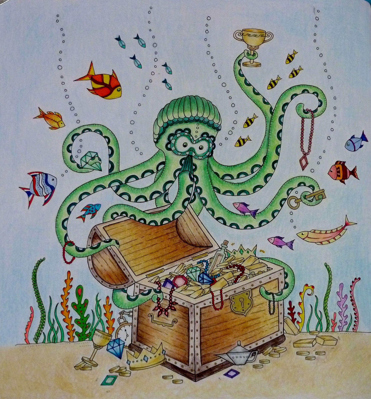 Lost Ocean by Johanna Basford – Colored by Kelli | sirenas ...