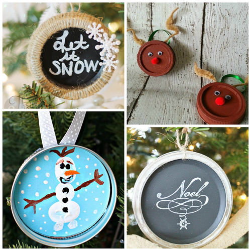Mason Jar Lid Ornaments Mason Jar Crafts Christmas Crafty Mason Jar Crafts Diy