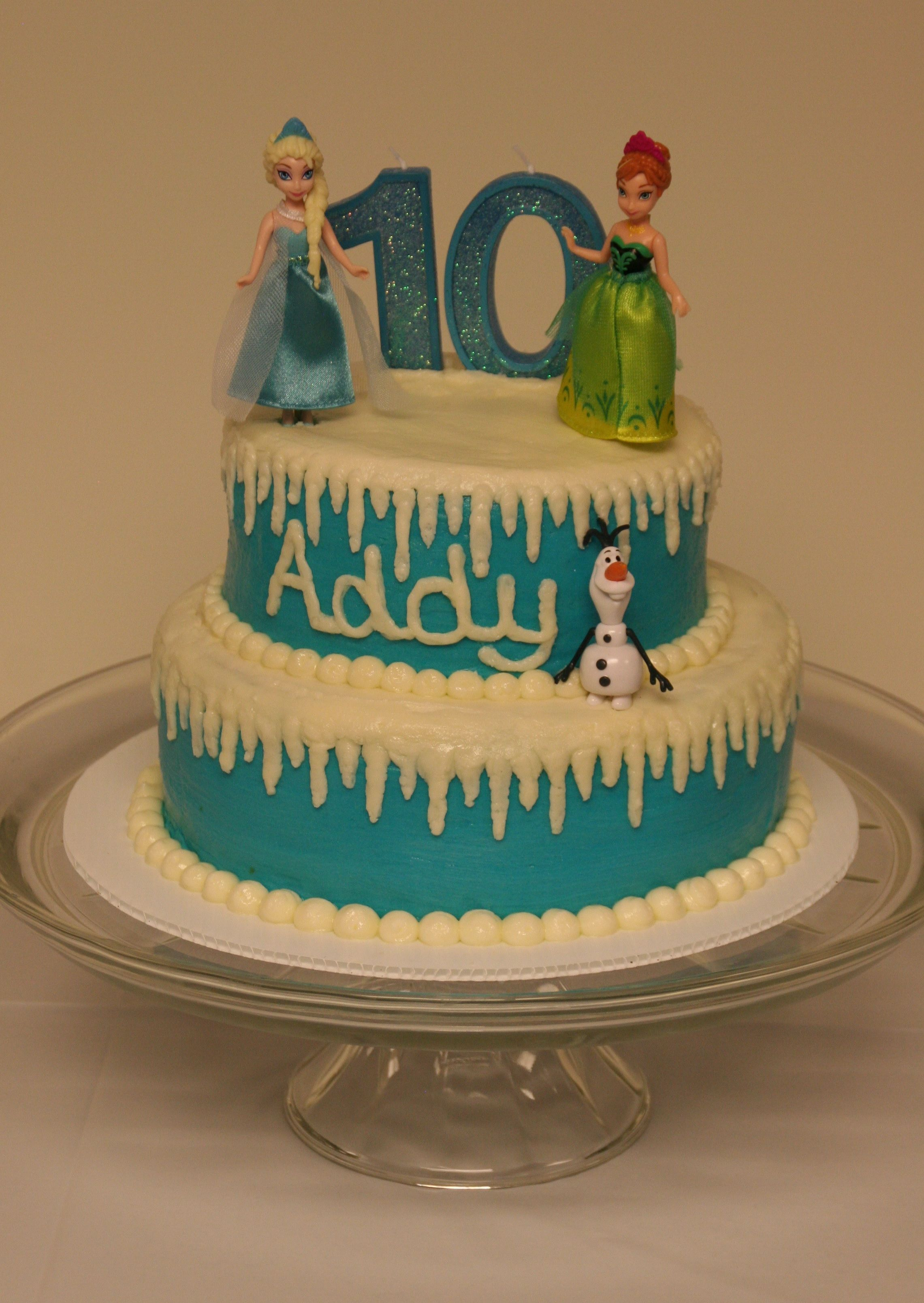 Frozen Theme Birthday Cake For My Daughters Th Birthday  And - 10th birthday cake