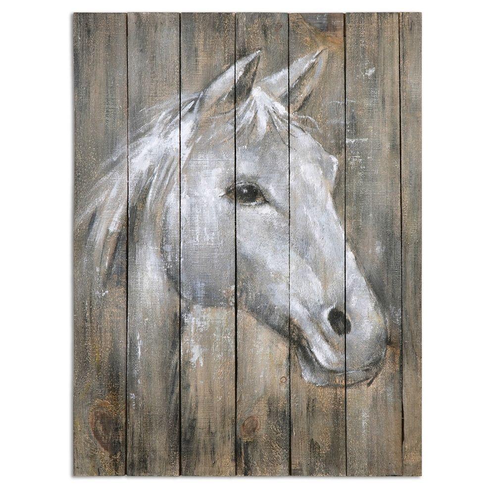 Uttermost dreamhorse hand painted art living room pinterest