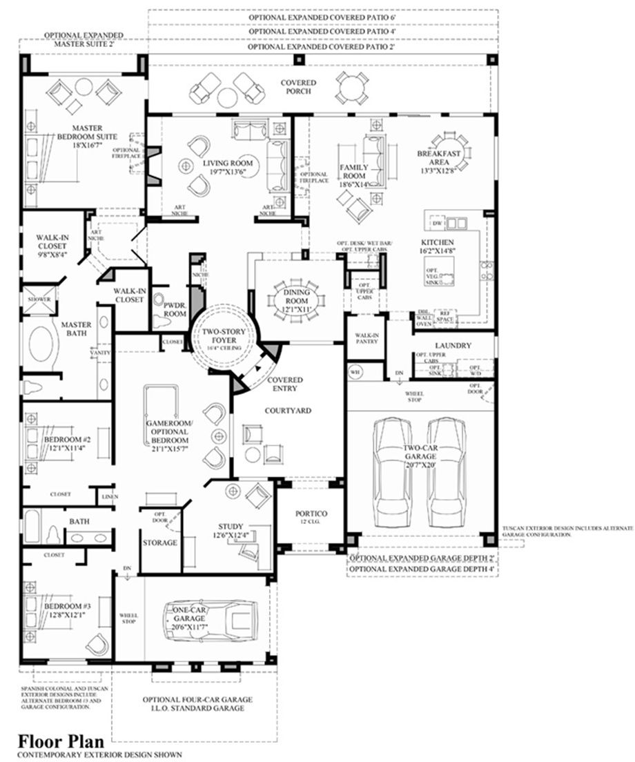 Toll Brothers San Mateo Open Floor House Plans Pool House Designs House Plans