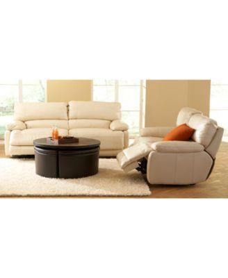 Nina Leather Reclining Sofa Collection Macys