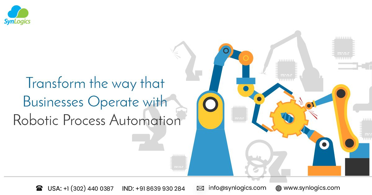 Synlogics Rpa Experts Work In Increasing Productivity By Automating All Low Level Manual Data Handling And Business Processing Task Business Automation Process