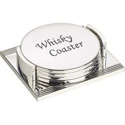 Personalised Silver Plated Coasters  http://www.treathim.com/product/Personalised-Silver-Plated-Coasters