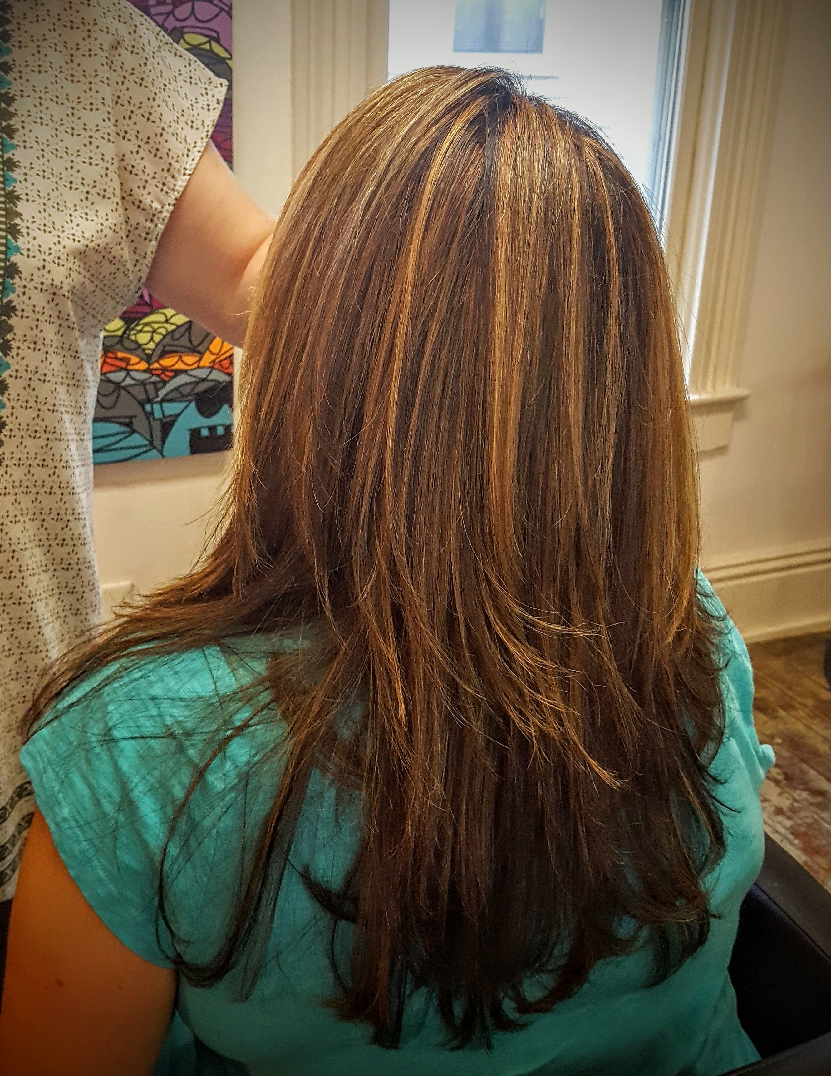 Carmel Highlights With Davines Color Mask With Vibrachrome At G Spot