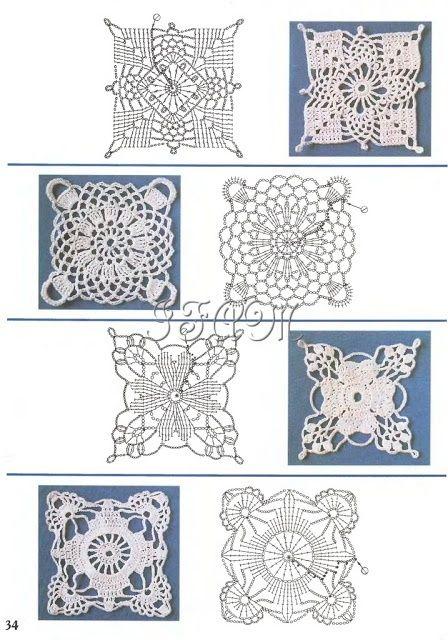 Trico y crochet madona m a aplicaciones para crochet ruso - Aplicaciones de ganchillo para colchas ...