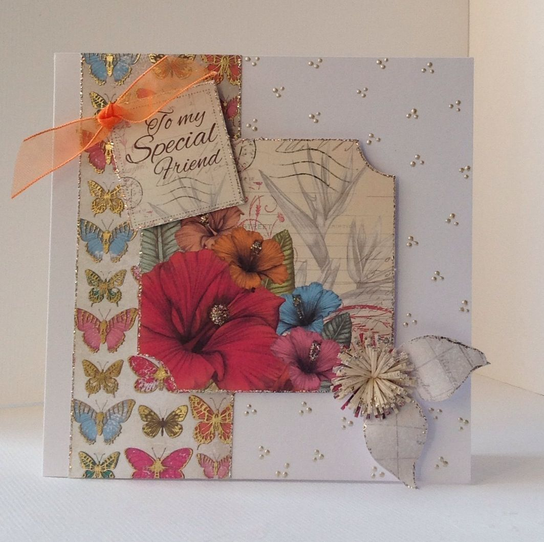 Card Making Paradise Part - 19: Card Designed By Julie Hickey Using Paradise Collection.