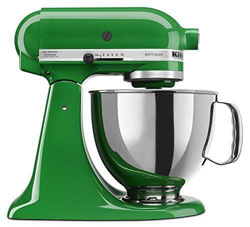 deep green kitchenaid artisan series 5 qt stand mixer with pouring rh pinterest com