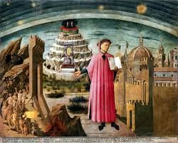 """""""La commedia illumina Firenze"""" on the wall of Florence Cathedral, Santa Maria del Fiore, Domenico di Michelino"""
