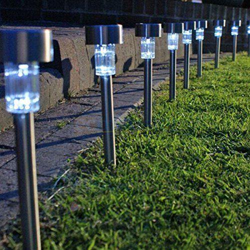 10 Pcs 5W Waterproof Solar Lawn LED Lamps Garden Outdoor Yard Solar Power Lights
