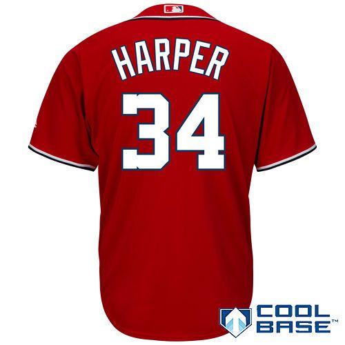 161b560dc Men s Washington Nationals Bryce Harper Majestic Red Alternate Cool Base  Player Jersey
