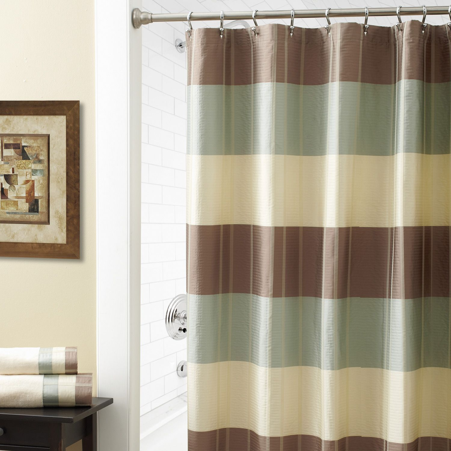 Croscill Fairfax Taupe Shower Curtain Shower Curtains | home ...