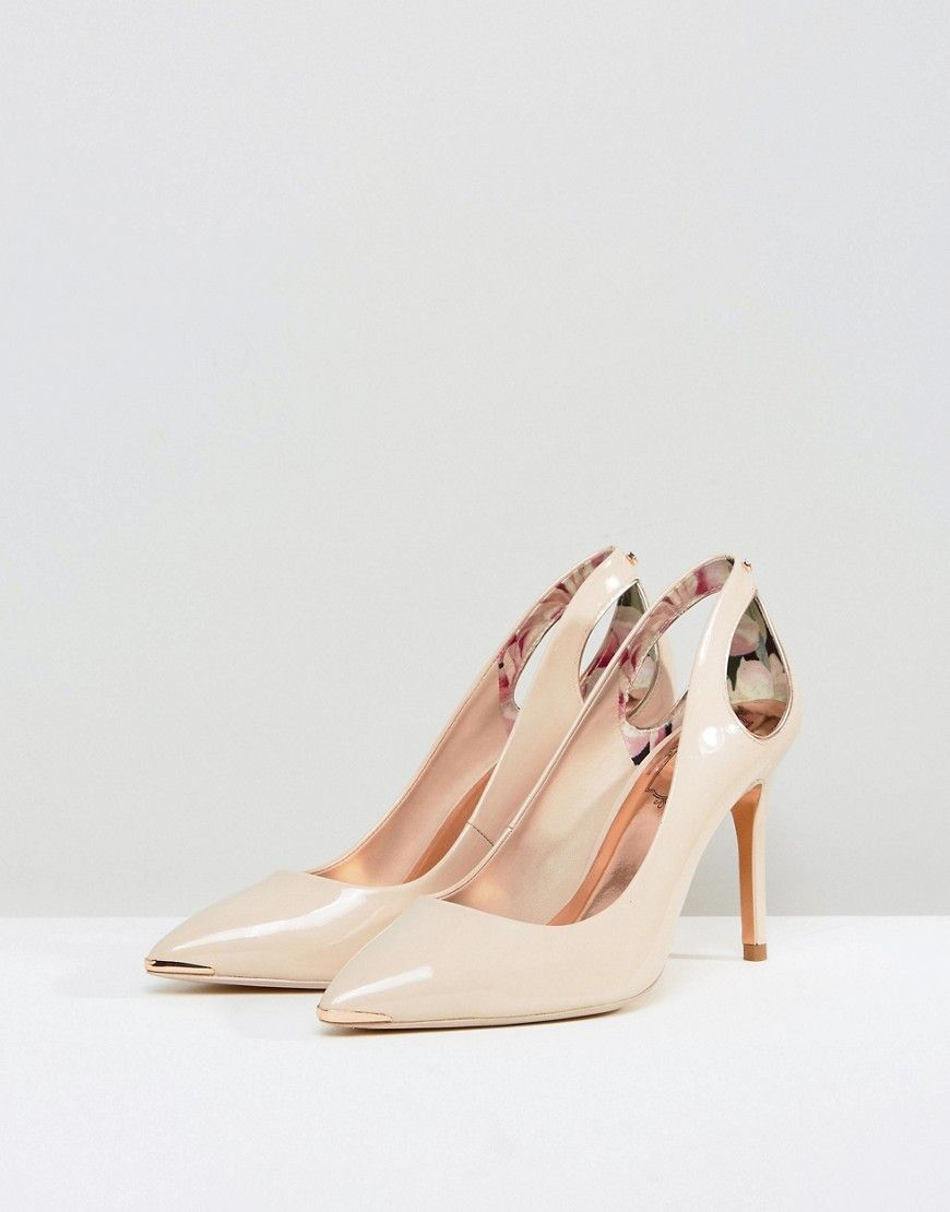 3ff1576f7512 Ted Baker Jesamin Nude Patent Bow Cutout Pumps - Beige