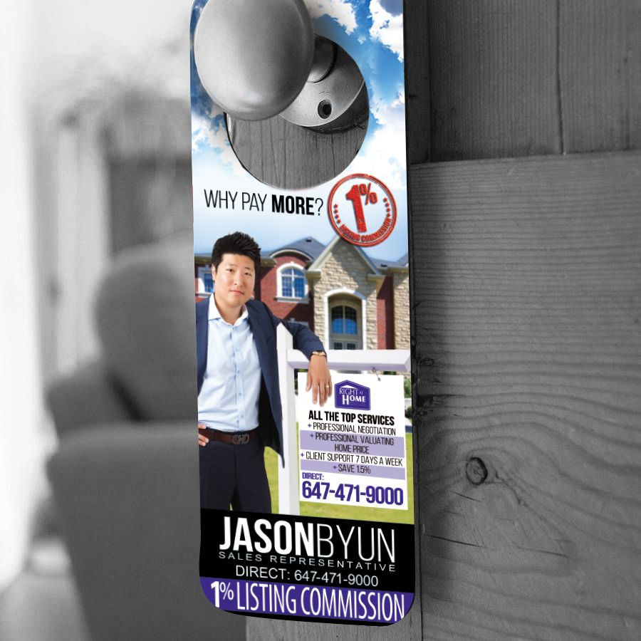Right At Home Realtor Door Hanger   Marketing Materials ...