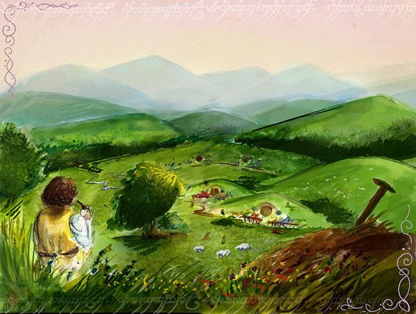 The Shire by Ines92 in Tolkien's Middle-Earth Fan Art