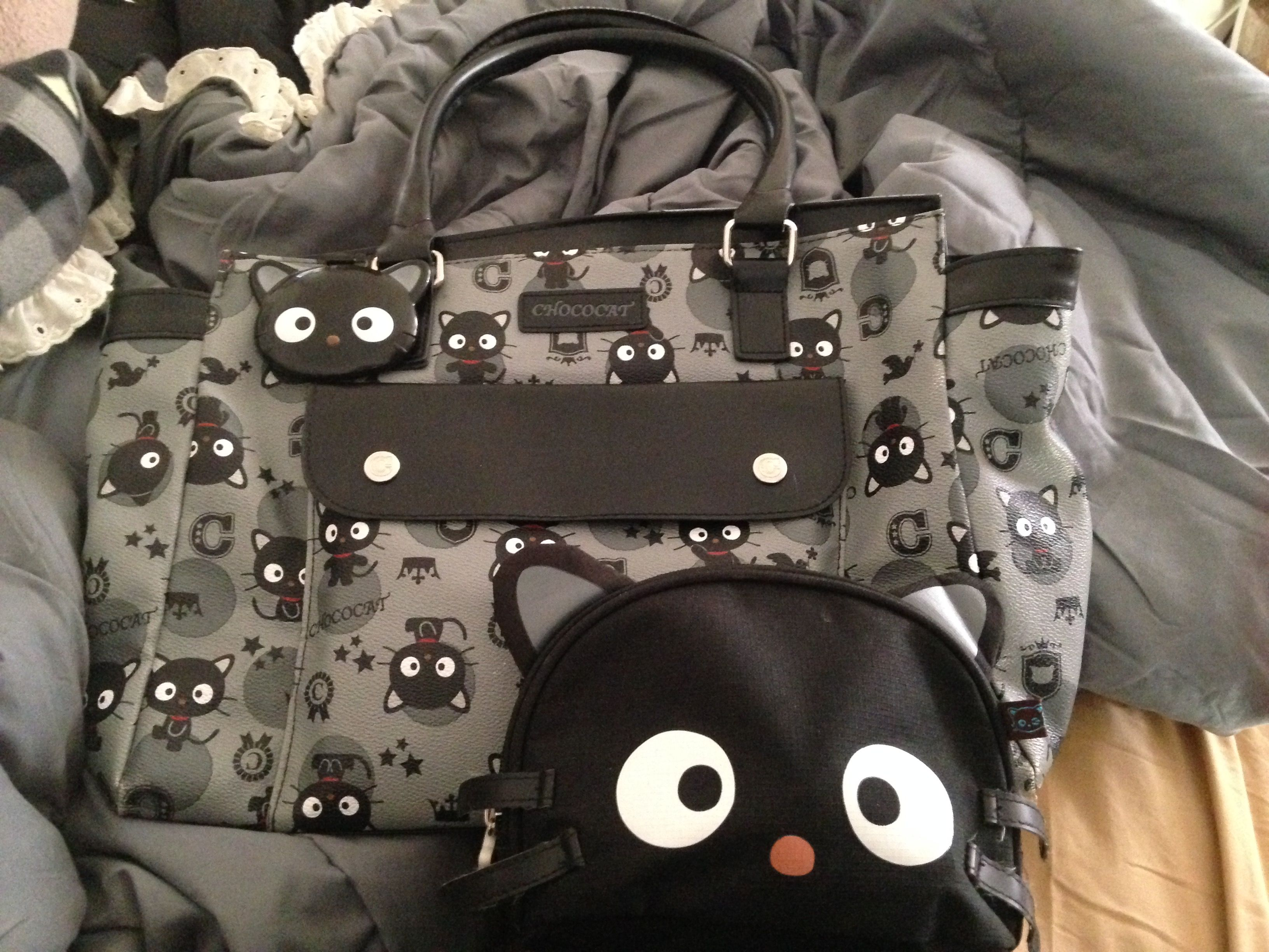 Chococat Purse Cosmetics Bag And Matching Mirror