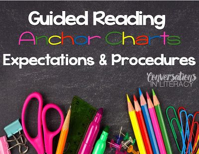 Guided Reading Ways to Create Anchor Charts (Conversations in