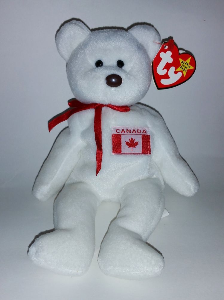 TY Maple Canadian Bear w  PRIDE   Double Tush Tag 1st Gen Beanie Baby RARE   TYBEANIEBABIES 5d85040d262