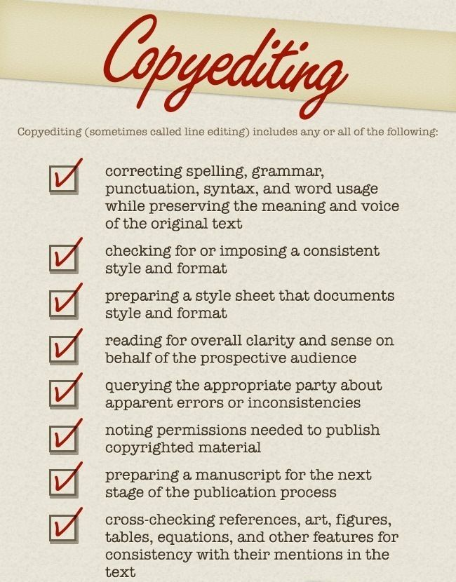 Four Types of Book Editing - Writers Write Writersu0027 Resources - copy editor job description