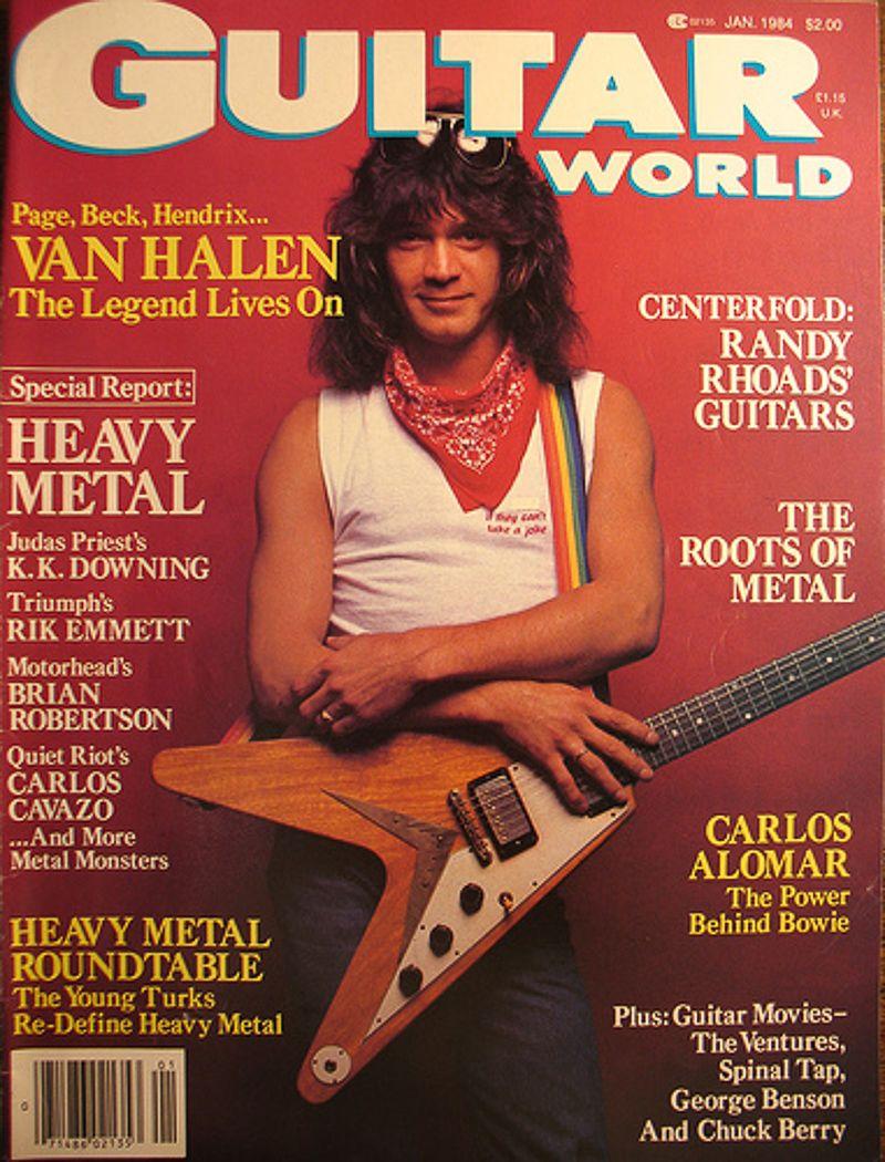 Eddie Van Halen Gw Mag Van Halen Eddie Van Halen Flying V Guitar
