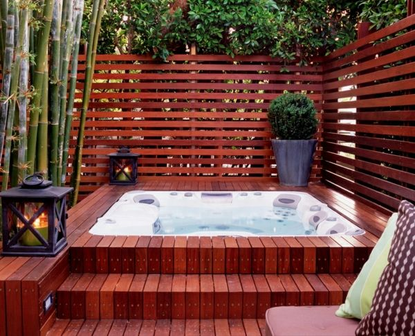 moderne wohnideen jacuzzi garten Sauna Pinterest Jacuzzi - outdoor whirlpool garten spass bilder