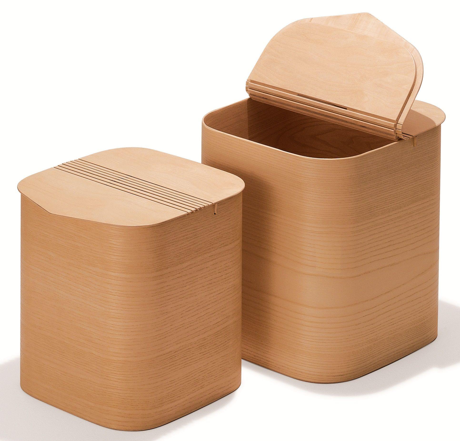 quadratischer w schekorb pinkquadro buche natur praktischer und sch ner deckel aus buche f r bad. Black Bedroom Furniture Sets. Home Design Ideas