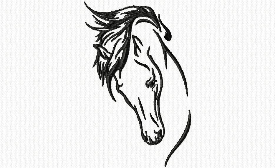 T te de cheval 2 dessin tete de cheval pinterest - Dessin tete de cheval a imprimer ...