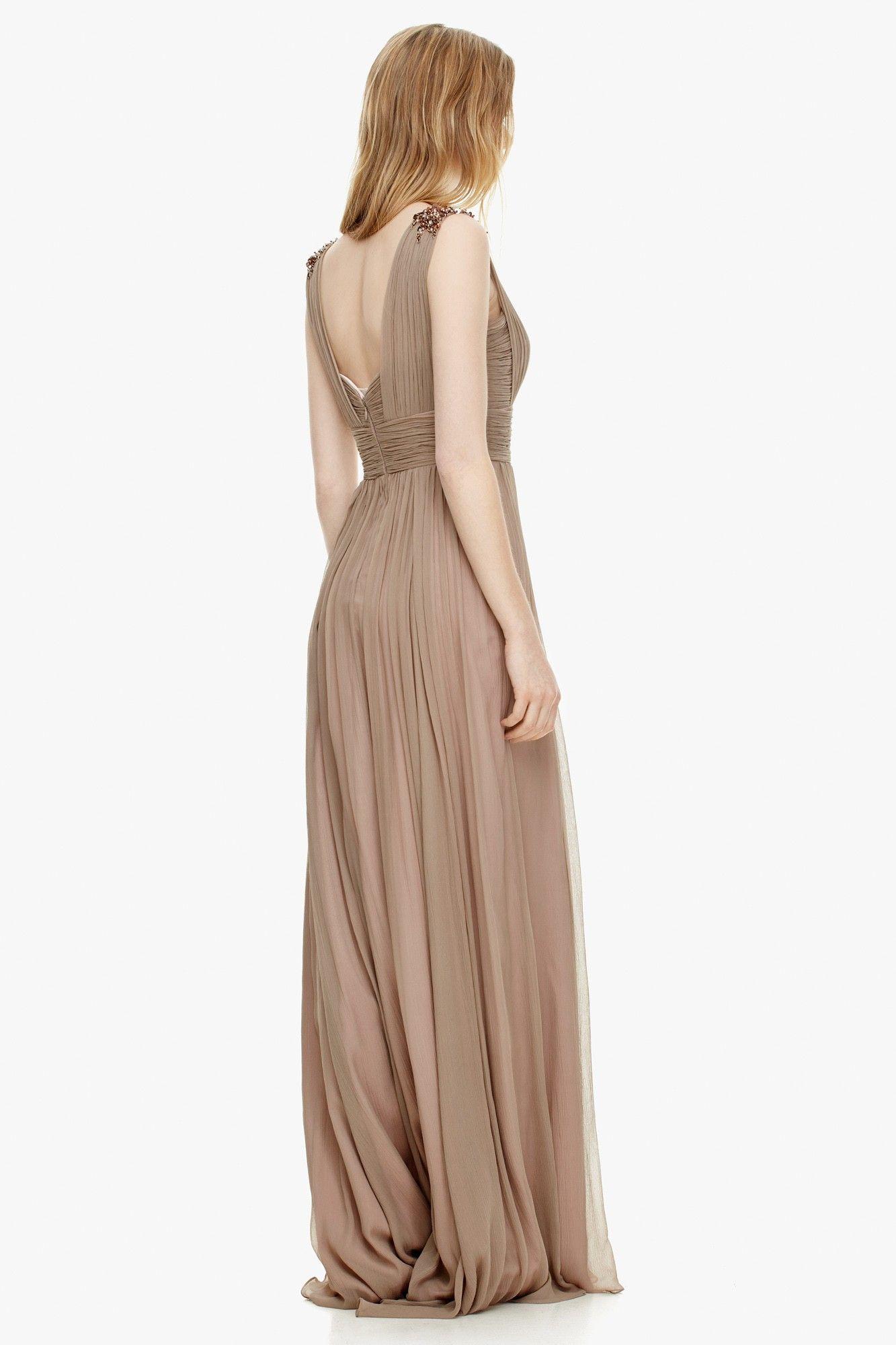 Vestido en seda de inspiraci n griega c ctel adolfo for Adolfo dominguez web corporativa
