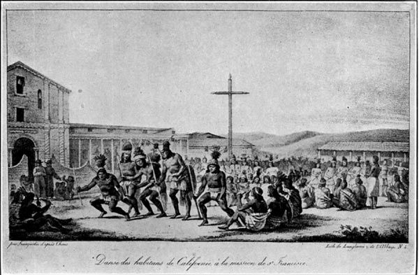 Image detail for -Dance of California Indians at the Mission ...