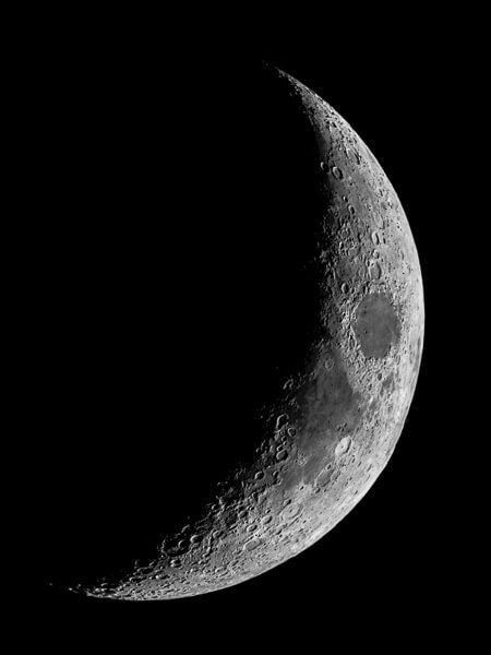 Croissant De Lune Clodoweg Astrophotographie Fond D Ecran Telephone Photographie De La Lune Fond D Ecran Colore