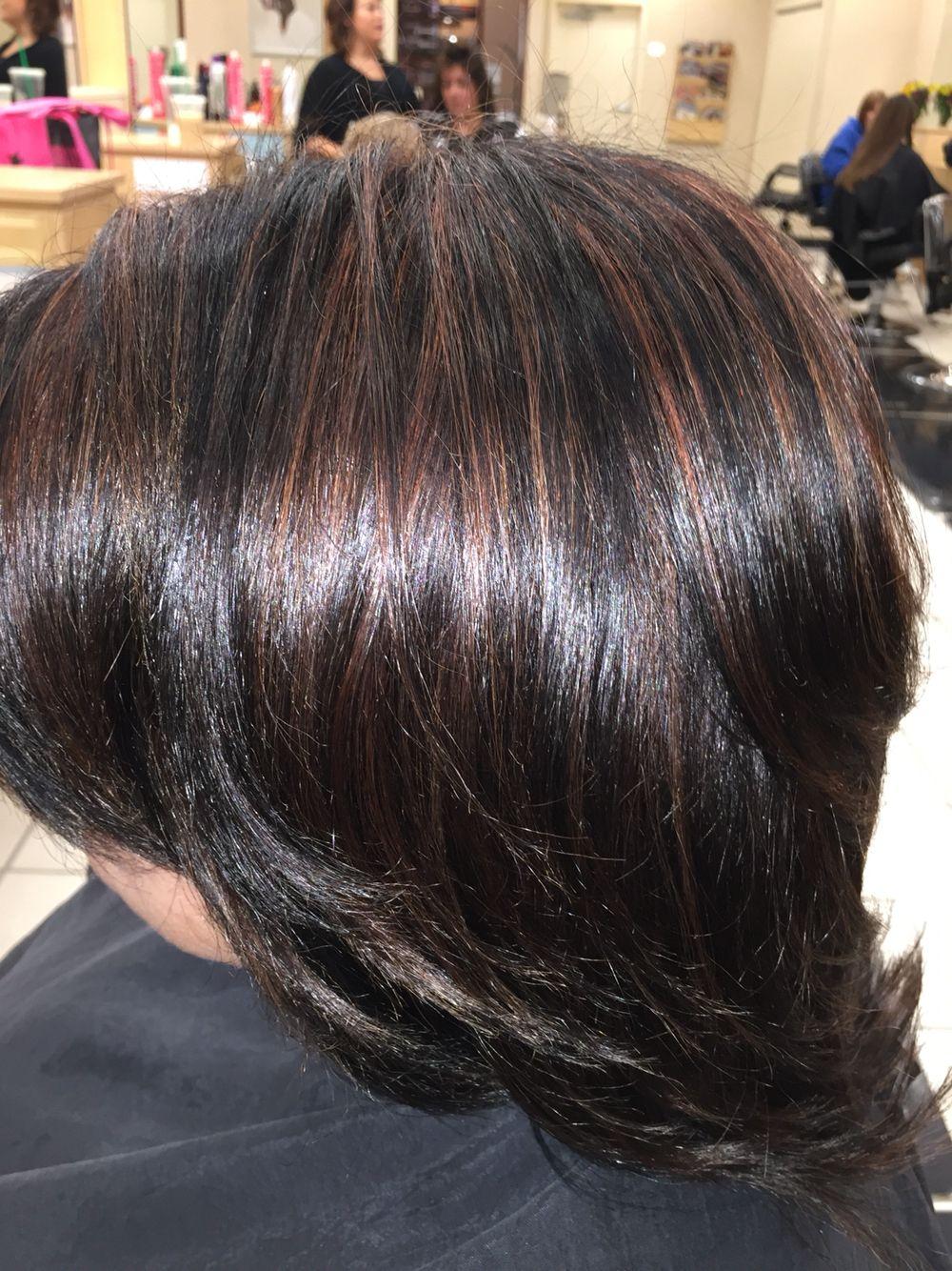 Mocha Highlights On Dark Brown Hair Great For Fall