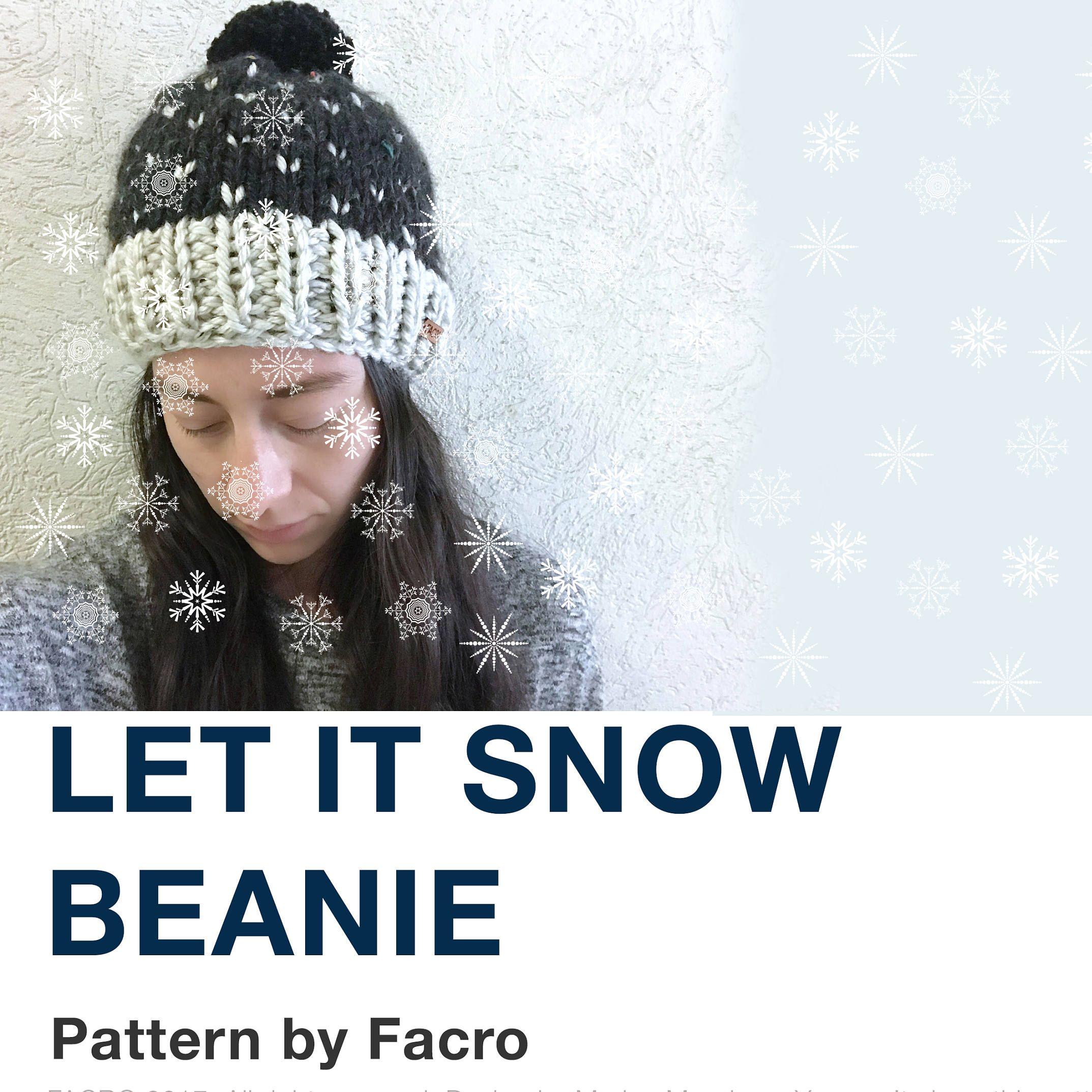 let it Snow PDF Knitting Pattern | Knit patterns, Snow and Knit patterns